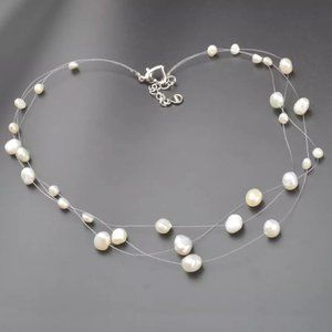 Jewelry - Triple Layer Cultured Pearl Necklace
